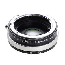 Upgraded version Lens turbo II adapter for Nikon F(G) lens to M4/3 MFT OM-D GH4