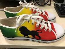 Custom Rasta Canvas Color red, yellow and  green shoes