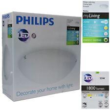 LED Ceiling Light Bedroom Living Room White Frosted Lamp Philips myLiving Ballan