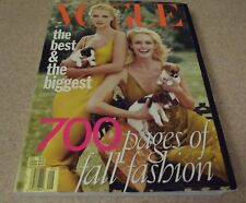 Vintage Vogue Fashion Magazine-September 1996-Kate Moss Amber Valletta Cover