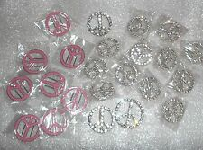 PEACE charms ribbon sliders shoelace CHARMS belt decor Scarf clip LOT! 23 pieces