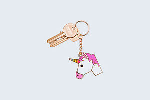 Rainbow Unicorn Keyring/Keychain/Bag Charm, Good Luck, Stay Safe, Gift, UK