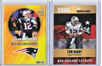 Custom Tom Brady Rookie Phenom Gold Platinum Limited Edition & Rookie Gold Card