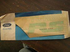NOS OEM Ford 1980 1981 1982 Mercury Capri Turbo RS Green Fender Decal Emblem
