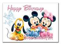 g007 Special Personalised Birthday greeting CARD with your text; Babies