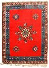 Handmade vintage Moroccan Berber rug 5.6' x 7.9' (170cm x 240cm) 1970s - 1C657