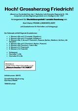 Hoch Großherzog Friedrich Marsch für Blechbläserquintett + Klar., Schlgz. Noten