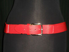 """TCK Twin City Knitting Red Baseball Elastic Belt 1.5"""" Wide stretches 21"""" to 47"""""""