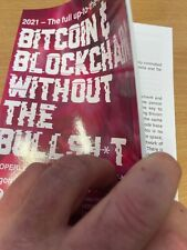 Bitcoin and Blockchain without the Bull - New 2021 book, direct from author