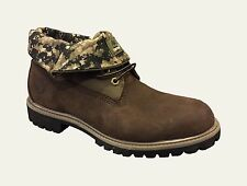 TIMBERLAND MEN'S *ROLL TOP BOOTS *COLOR~BROWN/CAMO SIZE 11.5 M # A 1196