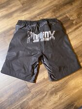Shorts Mens size Med Jiu Jitsu black Satin /Cotton Athletic.