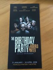 The Birthday Party by Harold Pinter at Harold Pinter Theatre  LEAFLET FLYER NEW