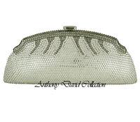 Anthony David Silver & Pewter Crystal Clutch Evening Bag with Swarovski Crystals