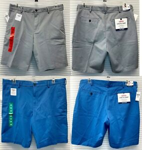 IZOD Men's Saltwater Wash Stretch Shorts Flat Front Relaxed Fit - NEW