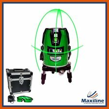 Maxiline 4V1H Green Beam Self Levelling Cross Line Laser Level w Glasses Battery