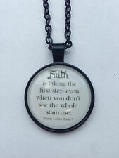Faith Quote Necklace