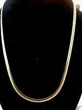 Stainless Steel Flat Necklace 18� 18K Ip Yellow Gold Solid
