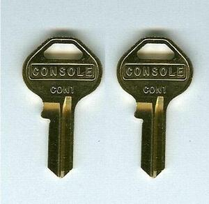 (2) GMC GM Chevrolet SSR Replacement Console Keys Cut to Code Codes 001-175