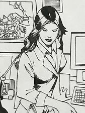 2005 DC Superman Secret Files & Origins ED BENES Original Art LOIS LANE Splash