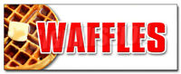 WAFFLES DECAL sticker breakfast sweets batter belgian syrup butter lolly