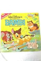 """1980 Walt Disney's Story and Songs From Bambi BOOK & RECORD 12"""" 33RPM LP Vinyl"""