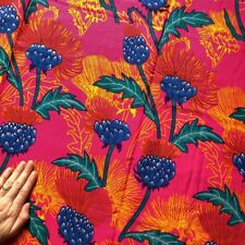 New listing African West African Pagne 100% cotton Textile Fabric Floral Print 2 yards +