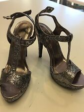 Novo Silver/ Glitter Heels for Wedding/Party/Function/Special Occasion. Sz 7