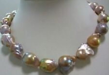 huge Color AAA 15-24mm south sea baroque pearl necklace 18 INCH