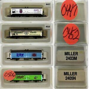 MARKLIN Z SCALE M/M 0447-0452-0503-0506  4 COLLECTOR Freight Cars Marklin BoxsC8