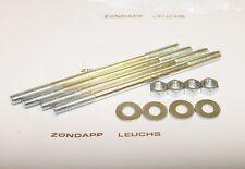 Zündapp Zylinder Stehbolzen M7 Zink Scheiben Mutter Set CS 25 HAI CX Typ 448