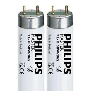 2x Daylight 58W/865 5FT (1500mm) T8 Fluorescent Lighting Tube (G13) 6500k SAD