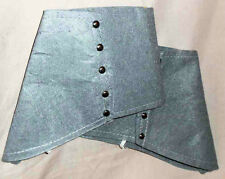 Gray Felt Costume Shoe Spats Victorian Steampunk 1920s to 1930s Style