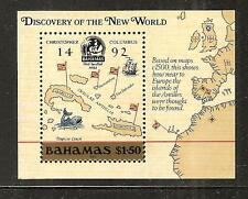 BAHAMAS # 644 MNH DISCOVERY OF AMERICA Souvenir Sheet