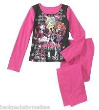 MONSTER High Doll Girl's 10/12 PinK Pajamas NeW Long Sleeve Shirt & Pants Pjs