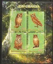 CONGO 2009 OWLS SHEET MNH