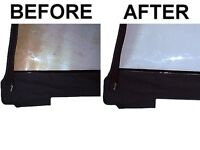 Boat Top Plastic Window Isenglass Cleaner Repair and Scratch Remover Polish