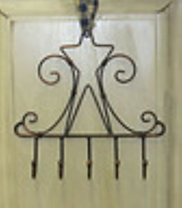 Country Farmhouse Metal Star Key Hanger Holder Antique Bronze