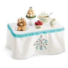 American Girl Caroline's TABLE & TREATS table & cloth tray bowls ladle