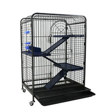 Large Ferret Cage Wheeled Pet Home Chinchilla Large Cat Cage 4 Tiers Accessories