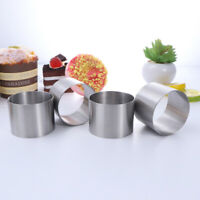 4Pcs Cake Mold Stainless Steel Circle Round Convenient Dough Cutter for Kichten