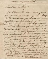 NAPOLEON'S MAJOR ROBY 3rd Voltigeurs Young Guard Letter From Former Soldier