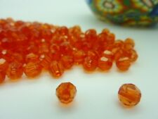 300 pce Transparent Faceted Round Acrylic Red Beads 6mm Jewellery Making Craft