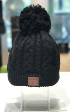 Beanie - Bommel Mütze mit Bluetooth-Headset, schwarz
