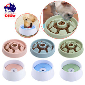 Dog Cat Pet Water Bowl No Spill Slow Feeder Dish Set Dust Free Vehicle Training