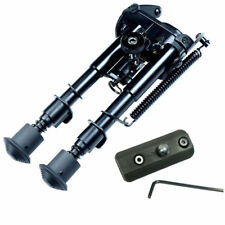 "Tactical 6"" to 9"" Adjustable Sniper Hunting Rifle Bipod w/ Rail Adapter Base Pad"