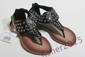 NEW WOMENS SIZE 5 GLADIATOR SANDALS UNIQUE UNMATCHING GREY/SILVER STUDDED SHOE'S