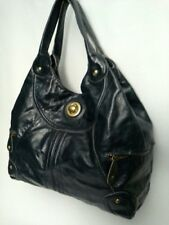 Tracy Reese Satchel Shoulder Bag Navy Blue Leather 575