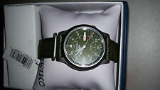SNK805 SEIKO 5 Military Style Automatic Men's Green Watch SNK805 New