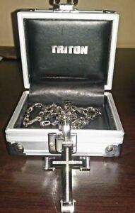 Triton Diamond Cross Pendant Necklace