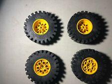 4* LEGO TECHNIC Roue 4266 & pneu  4267 20 x 30 / Set 8862 8854 8853